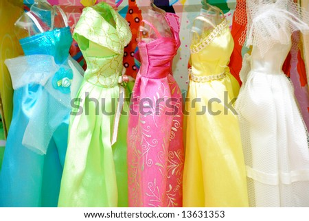 stock photo : colored dresses
