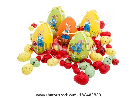 Colored easter eggs isolated #186483860