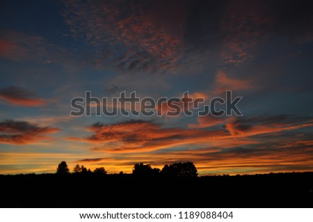 Colored evening sky #1189088404