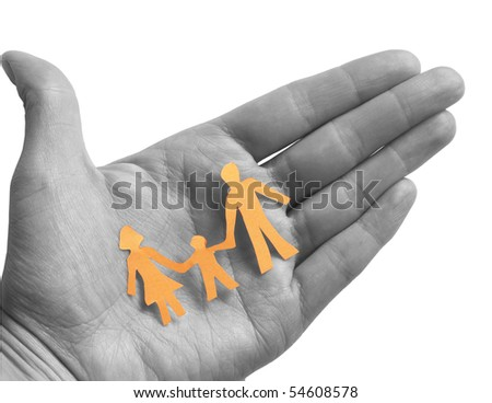 colored family in the BW hand