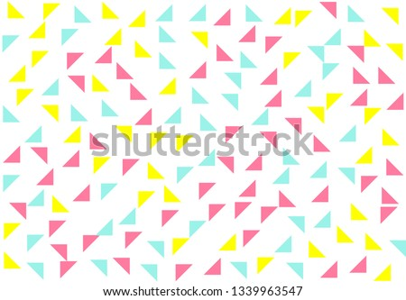 Colored geometric pattern background, texture of triangles