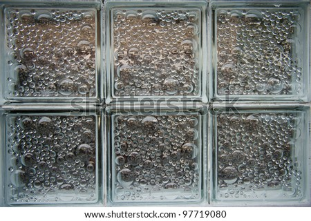 Colored Glass Block Window - stock photo