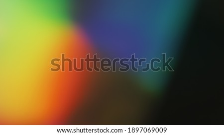Colored Holographic Gradient Blur Abstract Background, Light Leaks - Photo Overlay for Create Vintage Film Mood, Trendy Style and Nostalgic Atmosphere for Your Photos. Use a Screen Blending Mode. Stockfoto ©
