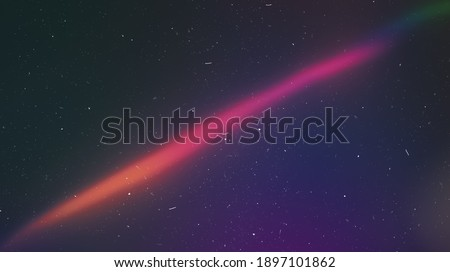 Colored Holographic Gradient Blur Abstract Background, Light Leaks - Photo Overlay with Film Grain and Dust Texture, Trendy Style and Nostalgic Atmosphere for Your Photos. Use a Screen Blending Mode. Stockfoto ©
