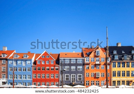 colored houses  copenhagen ...