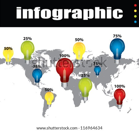 colored infographic with special design