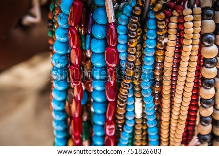 Colored jewelry from the beach GOKARNA OM BEACH INDIA  #751826683