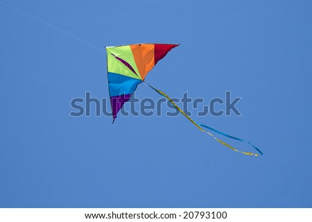 Colored kite in the blue sky