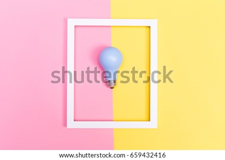 Colored lightbulb on a vibrant duotone background #659432416