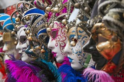 colored mask at carnival in Venice,Italy