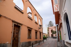 Colored Modern Building Windows in Las Palmas Canary Islands Spain