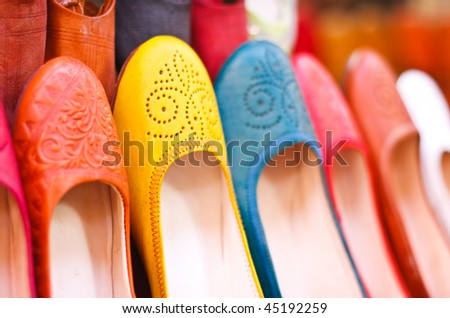 Colored Moroccan Shoes