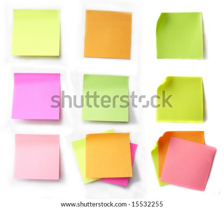 Colored notes paper