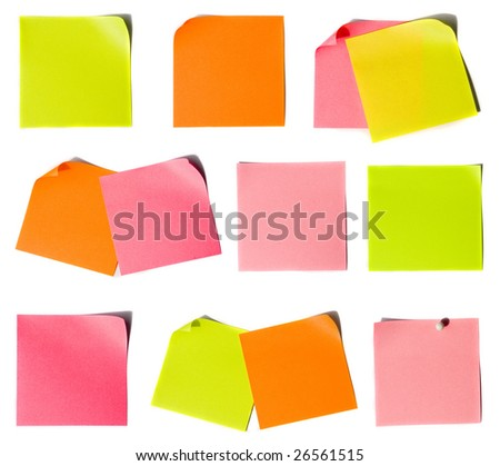 Colored notes paper set