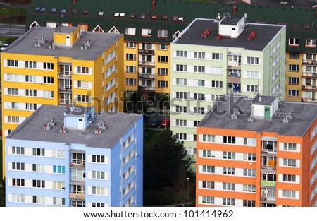 colored panel houses