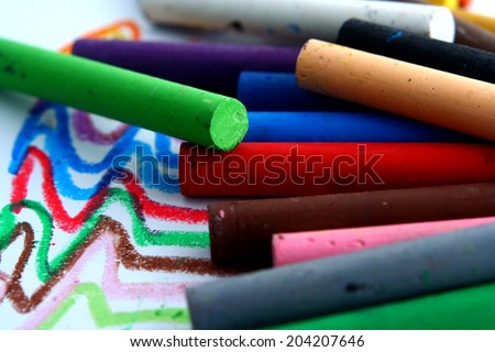 Colored Pastels Photo of colored pastels