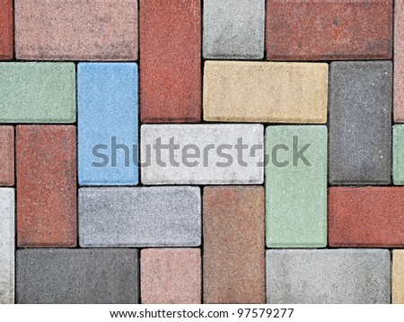 Colored paver brick background