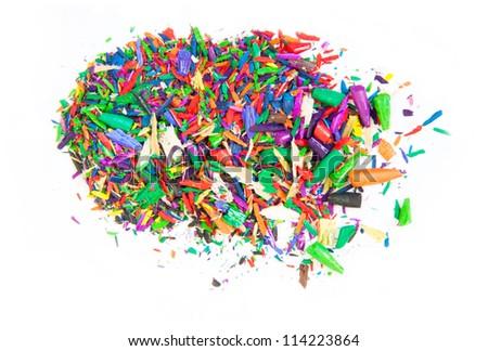 Colored Pencil Shavings Ez Canvas