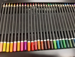 Colored pencils are a stick for drawing art. Arranged in a box More than twelve colors Chasing shades according to color theory Suitable for children or adults, starting with imagination.