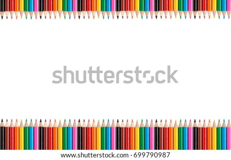 colored pencils isolated on a white background with space for text