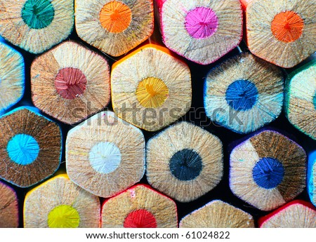colored pencils isolated on white background #61024822