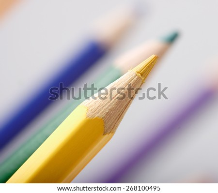 Colored pencils macro picture, shallow depth of field