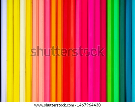 Colored pencils of various colors, Color background and texture #1467964430