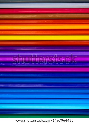 Colored pencils of various colors, Color background and texture #1467964433