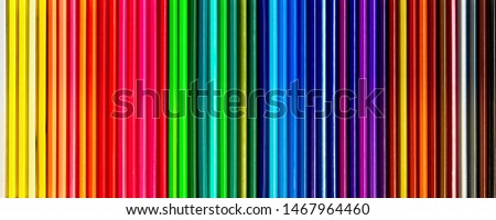 Colored pencils of various colors, Color background and texture #1467964460