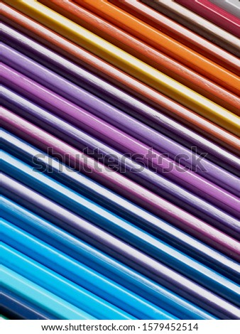 Colored pencils of various colors, Color background and texture #1579452514