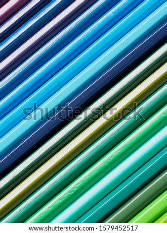 Colored pencils of various colors, Color background and texture #1579452517