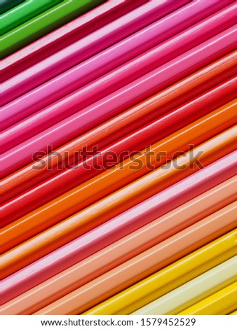Colored pencils of various colors, Color background and texture #1579452529