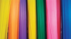 Colored plastic fibers 4