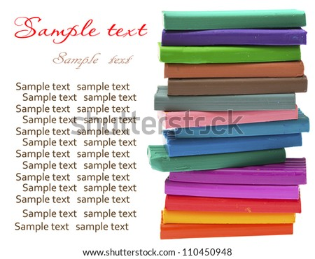colored plasticine isolated on the white background