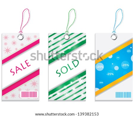 colored price tags