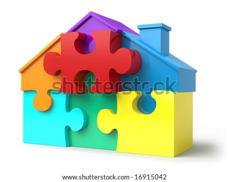 Colored puzzled home