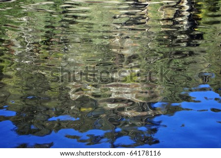 colored reflections in the crystalline