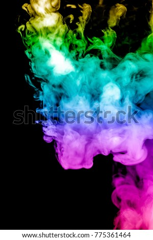 colored smoke isolated on a black background. fractal. spiral. - Shutterstock ID 775361464