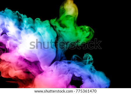 colored smoke isolated on a black background. fractal. spiral. - Shutterstock ID 775361470