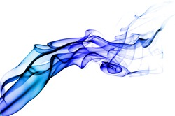 colored smoke isolated on a white background