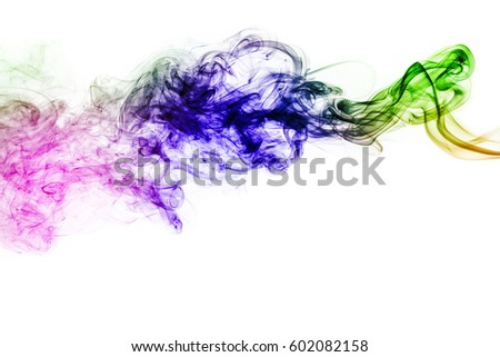 colored smoke isolated on white background #602082158