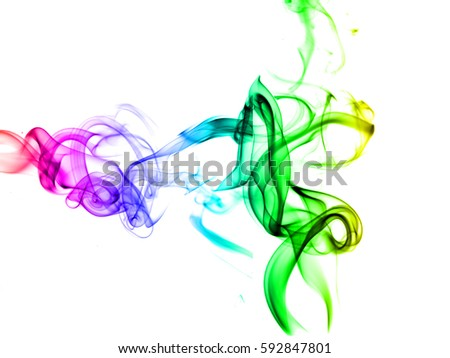 Colored smoke isolated on white background, abstract smoke, abstract smoke wave. #592847801