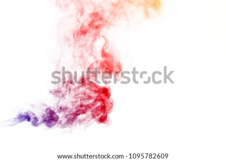Colored smoke on white background #1095782609