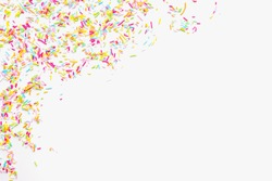 colored sprinkles, sprinkle for Easter cake on a white background, color background