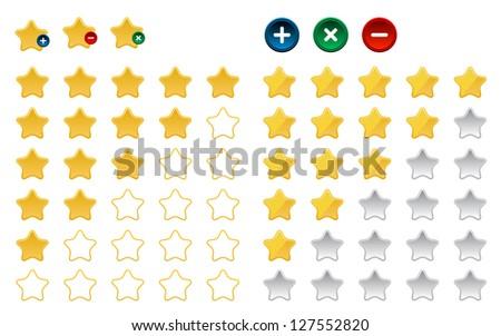 Colored star favorite button,