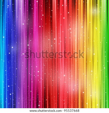 Colored striped background with stardust