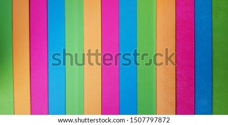 Colored stripes. Colorful striped abstract background. Vertical rainbow stripe pattern. #1507797872
