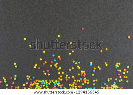 colored sweet powder confectionery / background photo confectionery cooking