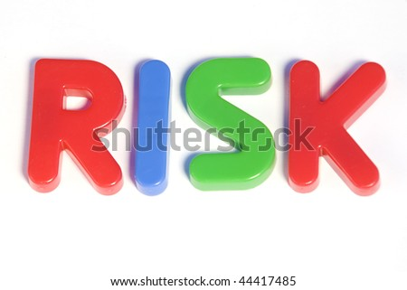 Colored text with the word risk. Great colors - stock photo