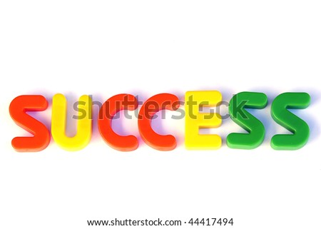 Colored text with the word success. Great colors - stock photo